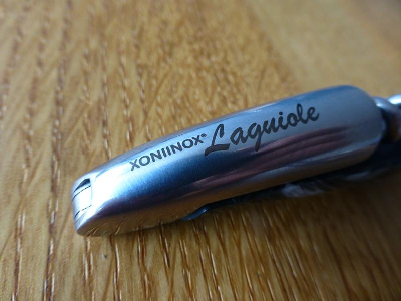 XONIINOX® Laguiole, Couteau de Sommelier gris (Kellnermesser anthrazit-grau)