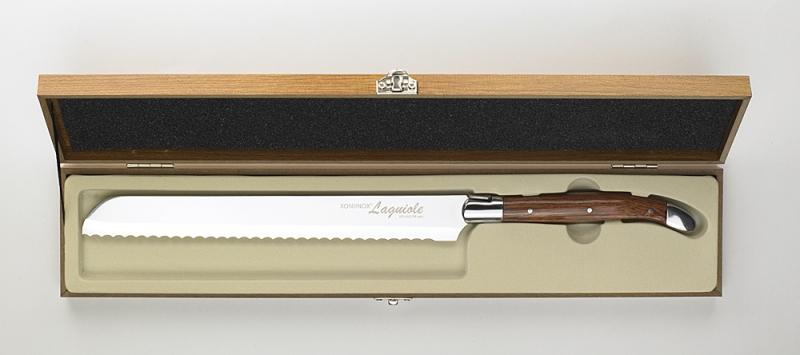 XONIINOX® Laguiole, Großes Brotmesser mit Wellenschliff