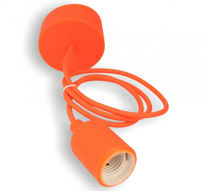 Silikon-Lampenfassung orange