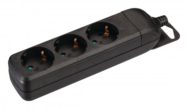 3-fach Schuko-Steckerleiste ohne Kabel
