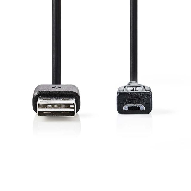 USB-Kabel A-Buchse - Micro B 0,2 m