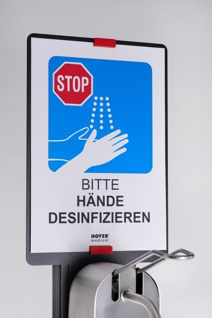HOYER®medical - HM 00306 Desinfektionsmittelspender Bodenversion PREMIUM 1000ml